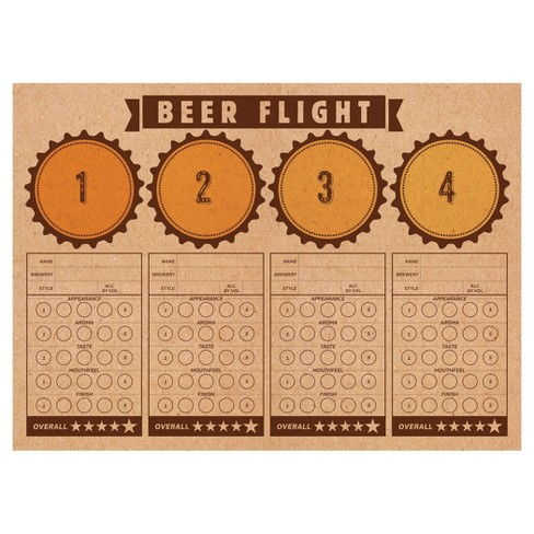 24ct Cheers & Beers Beer Flight Placemats - image 1 of 1