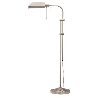 "46"" x 57"" Adjustable Height Metal Pharmacy Floor Lamp Brushed Steel - Cal Lighting"