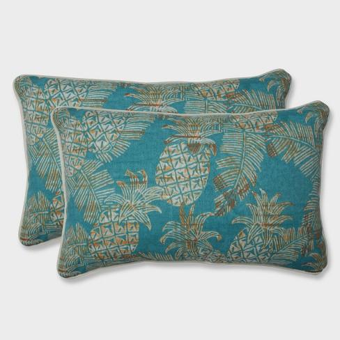 2pk Carate Batik Lagoon Rectangular Throw Pillows Blue - Pillow Perfect - image 1 of 1