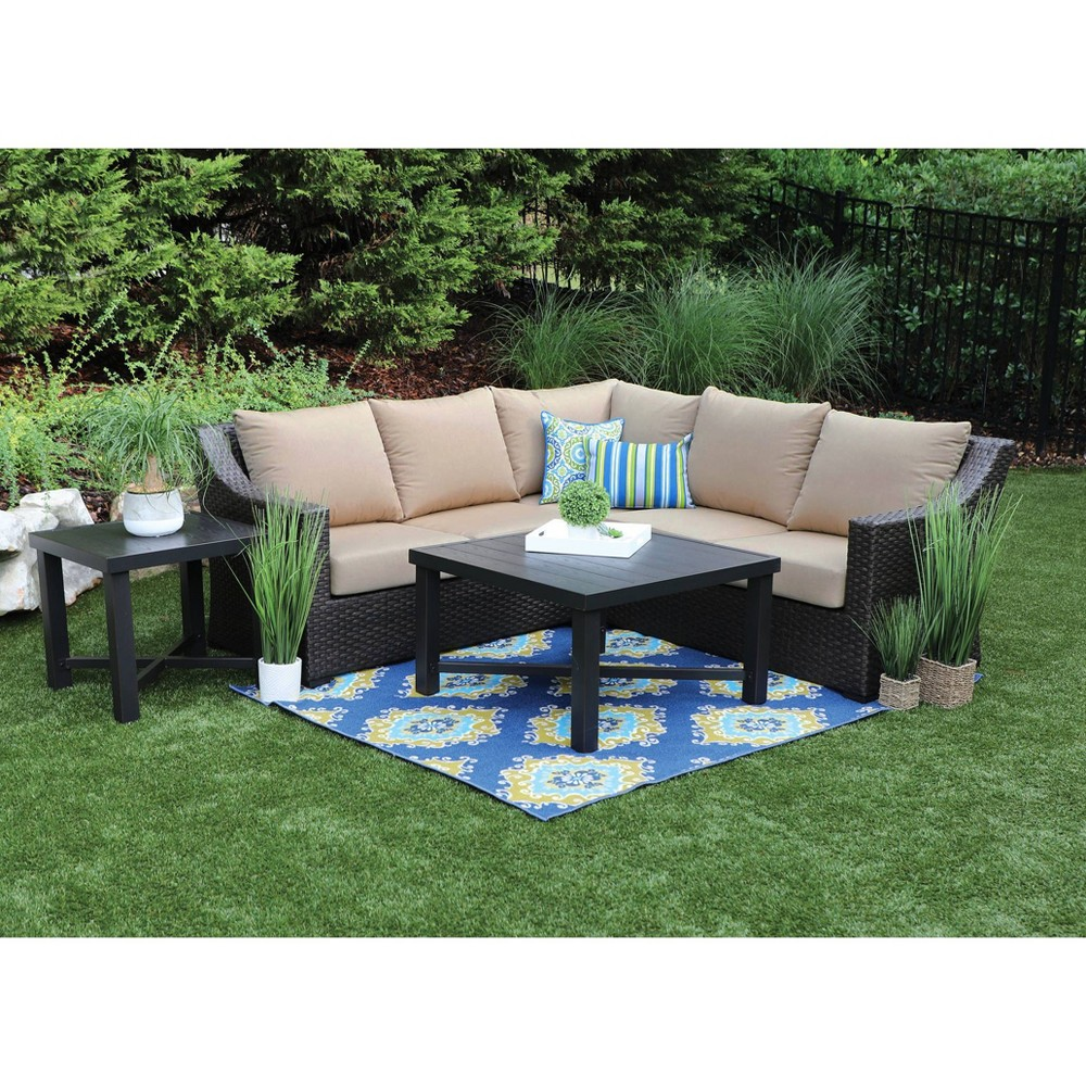 Image of Birch 5pc Sunbrella Sectional Set Tan - Canopy Home and Garden