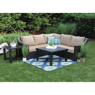Birch 5pc Sunbrella Sectional Set Tan - Canopy Home and Garden
