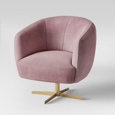 Attirant Morpho Swivel Velvet Arm Chair   Opalhouse™ : Target