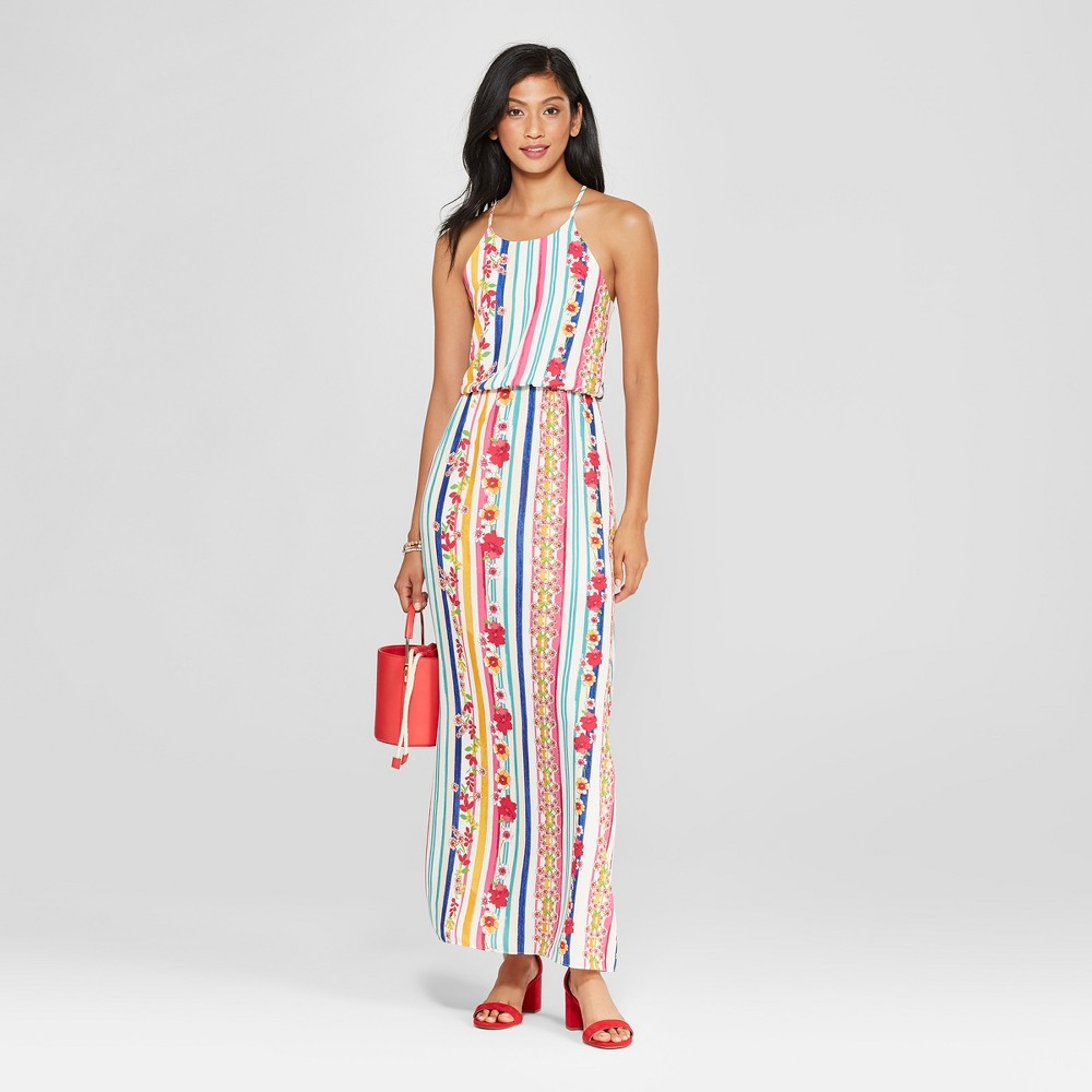 Women's Floral Print High Neck Maxi Dress - Le Kate (Juniors') M, Size: Small, MultiColored was $44.99 now $20.24 (55.0% off)
