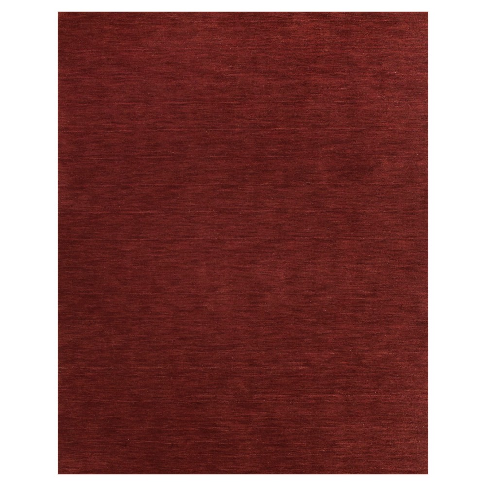 5'X8' Solid Woven Area Rugs Rust (Red) - Room Envy