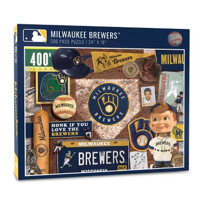 MLB Milwaukee Brewers 500pc Retro Series Puzzle