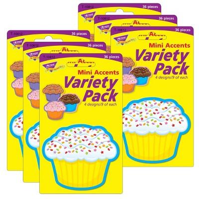 6pk 36 per Pack Cupcakes Mini Accents - TREND