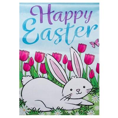 "Northlight Happy Easter Bunny Outdoor Garden Flag 12.5"" x 18"""