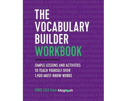 Vocabulary Builder Workbook : Simple Lessons and Activities to Teach Yourself over 1,400 Must-know Words - image 1 of 1