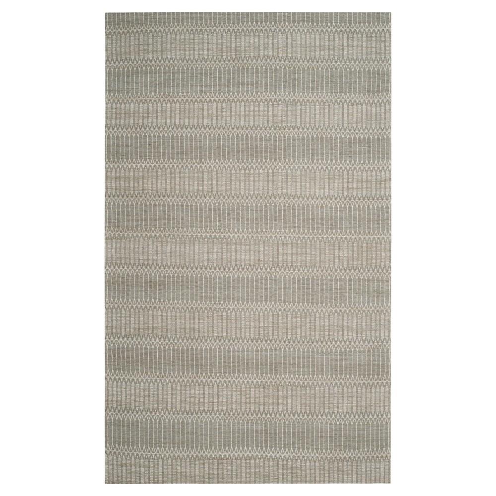 Camel/Gray Stripe Woven Area Rug 6'X9' - Safavieh