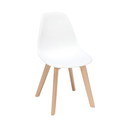 Prime 18 Set Of 4 Plastic Molded Mid Century Modern Dining Chairs Solid Beechwood Legs White Ofm Pabps2019 Chair Design Images Pabps2019Com