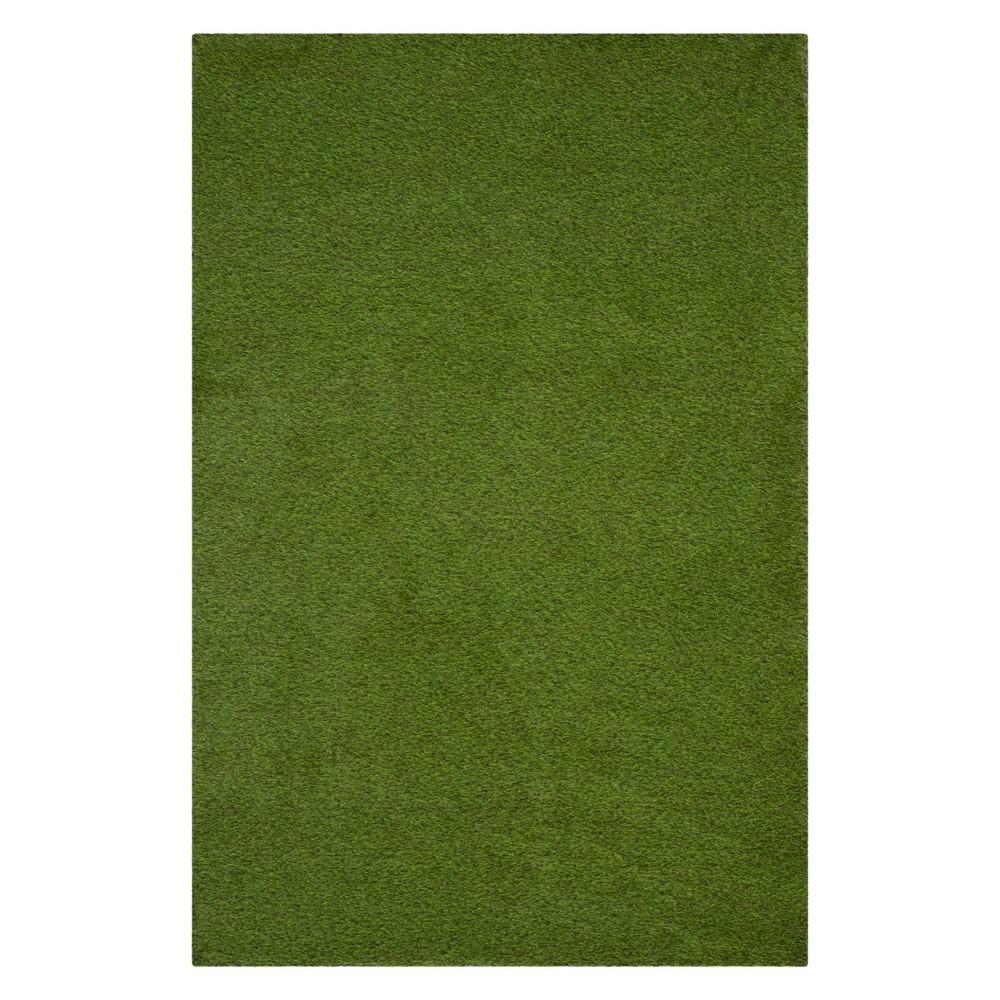 9'X12' Solid Loomed Area Rug Green - Safavieh