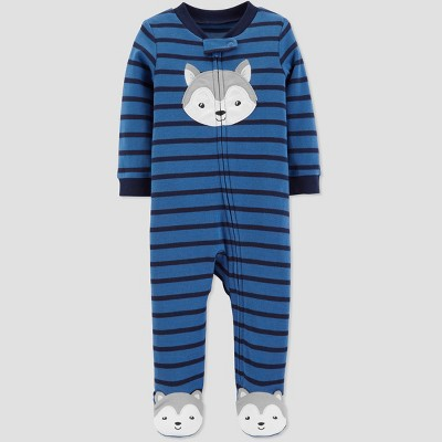 Baby Boys' Husky Interlock Sleep 'N Play - Just One You® made by carter's Blue 9M