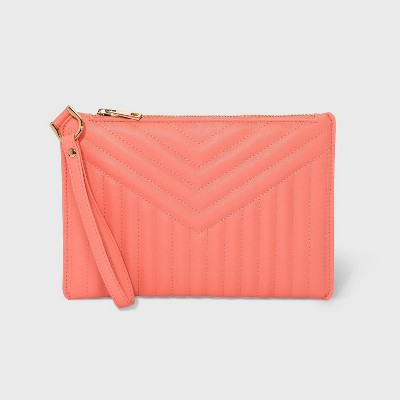 Zip Closure Wristlet Pouch - A New Day™ Pink
