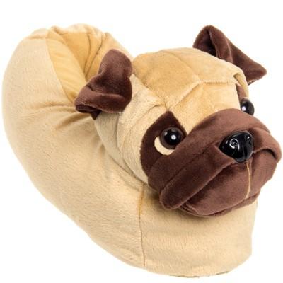 FUNZIEZ! - Women's Pug Animal Slippers