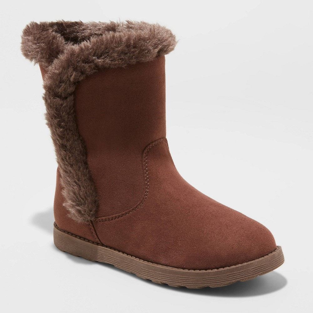 Image of Girls' Hadlee Shearling Boots - Cat & Jack Brown 1