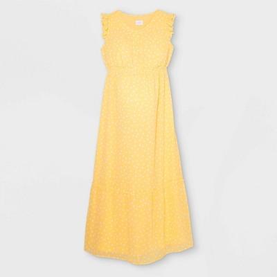 Ruffle Cap Sleeve Woven Maternity Dress - Isabel Maternity by Ingrid & Isabel™
