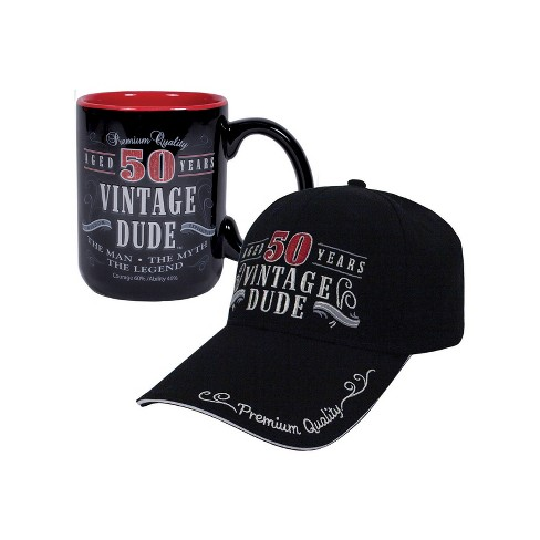 Vintage Dude 50 Hat And Coffee Mug Bundle Target