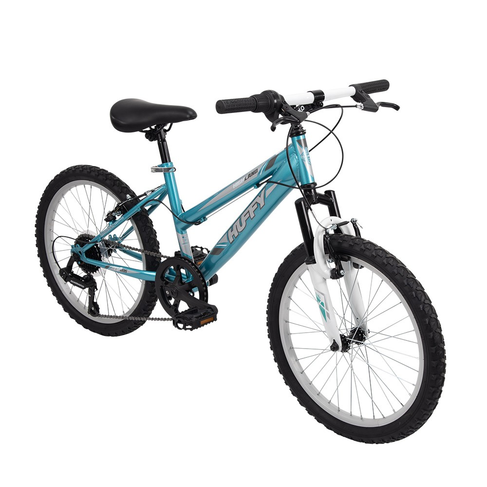 Huffy Highland 20 Youth Mountain Bike - Aqua Blue/White