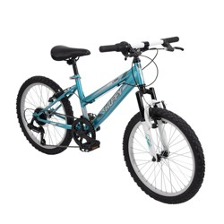 "Huffy Highland 20"" Kids' Mountain Bike - Aqua Blue/White"