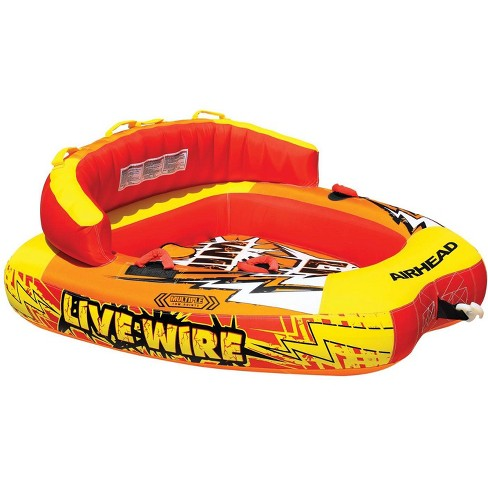 AIRHEAD AHLW-2 Live Wire 2 Inflatable 1-2 Rider Boat Towable Lake Water Tube - image 1 of 4