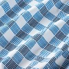 Crib Fitted Sheet Gingham - Cloud Island™ Blue - image 4 of 4