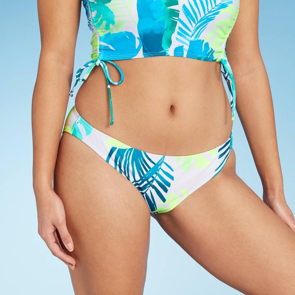 Juniors 39 Cheeky Hipster Bikini Bottom Xhilaration 8482 Multi Leaf Print Xs