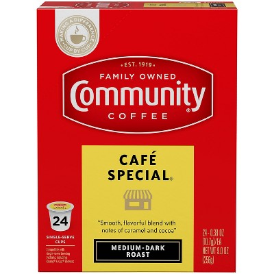Community Coffee Cafe Special Medium Roast Coffee - Single Serve Pods - 24ct