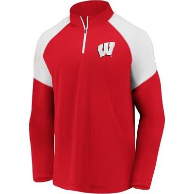 NCAA Wisconsin Badgers Men's 1/4-Zip Sweatshirt