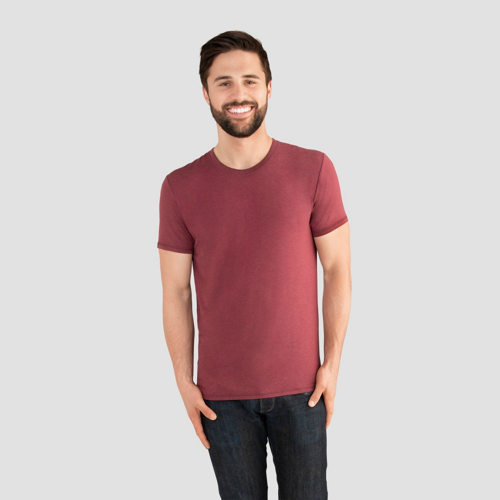 Fruit of the Loom Select Men's Everlight Short Sleeve T-Shirt - Cranberry Tart L