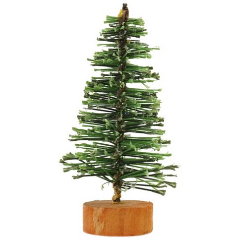 Vickerman Christmas Trees.Vickerman 3 Green Bottle Brush Artificial Mini Pine Christmas Tree