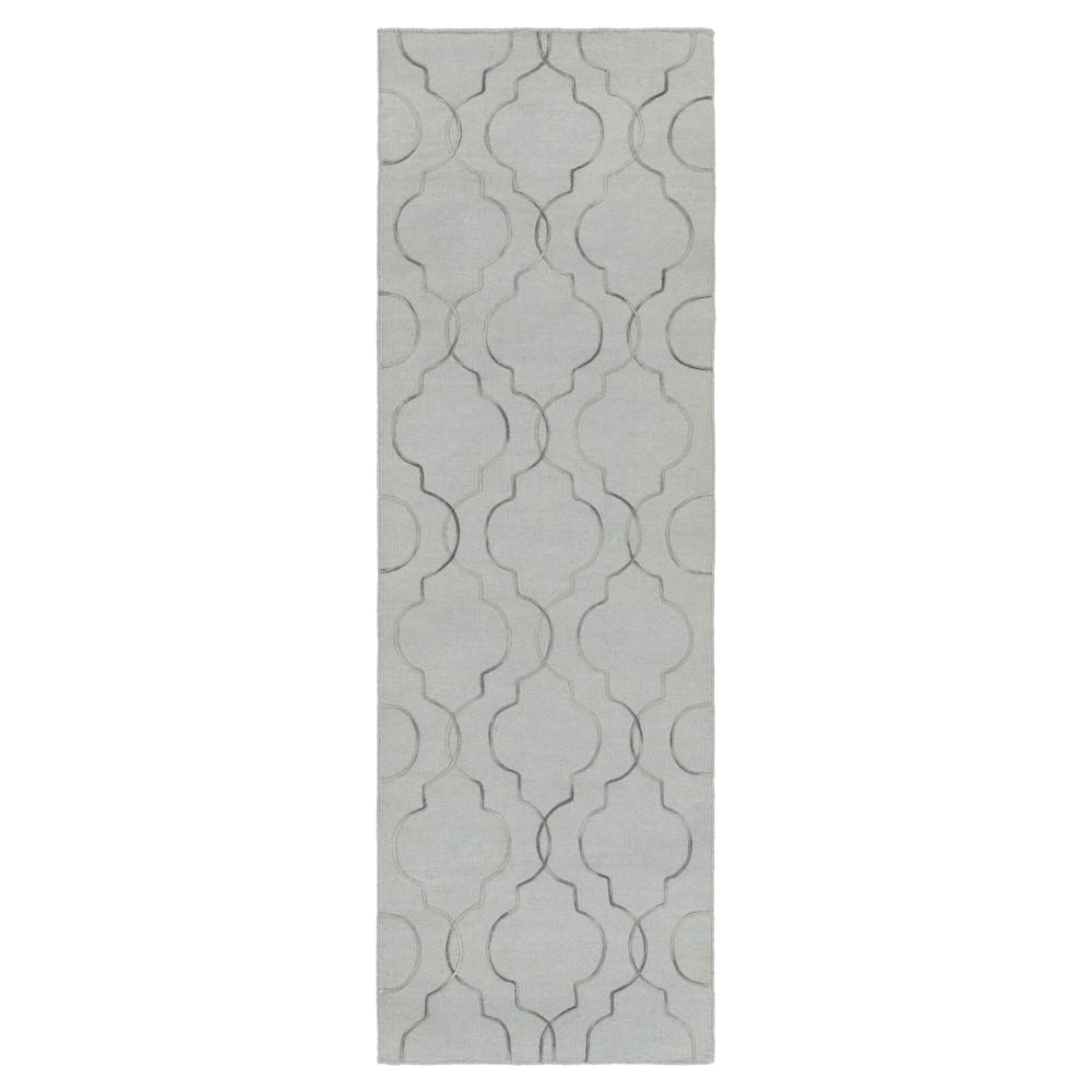 Gray Solid Woven Runner - (2'6X8' Runner) - Surya, Medium Gray