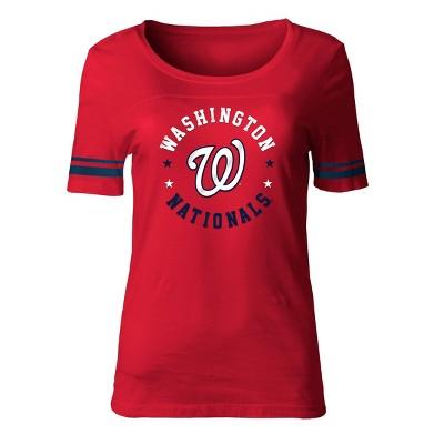 MLB Washington Nationals Women's Poly Rayon Fashion T-Shirt