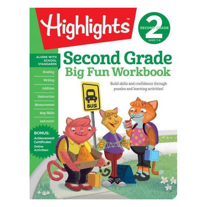 Second Grade Big Fun Workbook - (Highlights Big Fun Workbooks) (Paperback) : Target