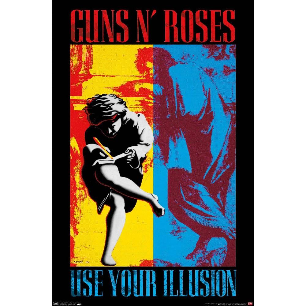 34 34 X 22 34 Guns N 39 Roses Illusion Unframed Wall Poster Trends International