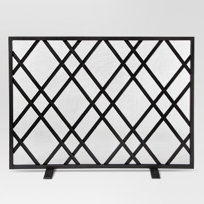 Lattice Fireplace Screen - Matte Black Finish - Threshold™