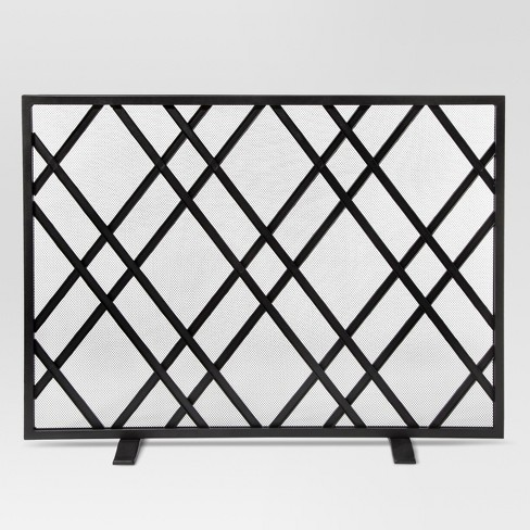 64d4ffb7048 Lattice Fireplace Screen - Matte Black Finish - Threshold™   Target