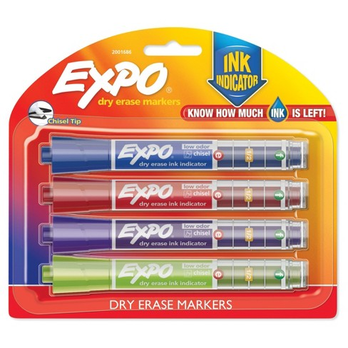 Expo® Dry Erase Markers with Ink Indicator, 4ct - Multicolor - image 1 of 12