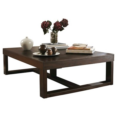 Genial Watson Rectangular Cocktail Table Dark Brown   Signature Design By Ashley