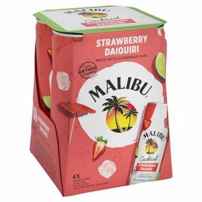 Malibu Strawberry Daquiri - 4pk/355ml Cans
