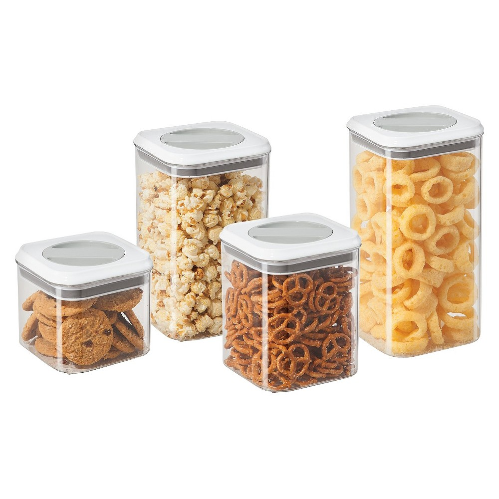 Oggi Twist and Store Airtight Canister Set, Clear