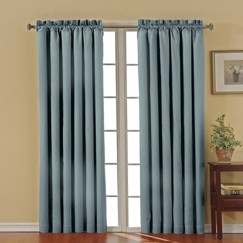 "Eclipse Thermaback Canova Blackout Curtain Panel - River Blue (42""x84"") - image 1 of 3"