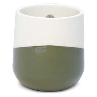 12oz Angled Color Block Ceramic Jar Candle Balsam & Pine - Vineyard Hill Naturals By Paddywax