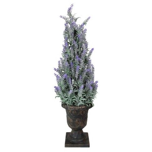 Northlight 35 Green And Purple Potted Artificial Floral Heather