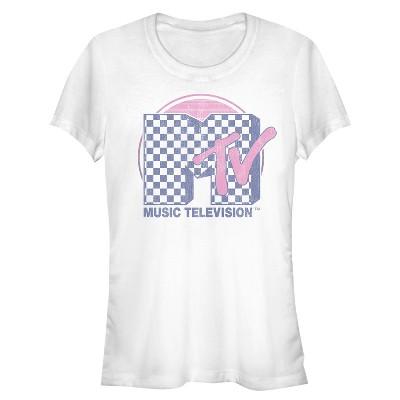 Junior's MTV Checkerboard Logo T-Shirt