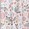 Pixie Fox Shower Curtain Gray/Pink - Lush Dcor - image 3 of 4