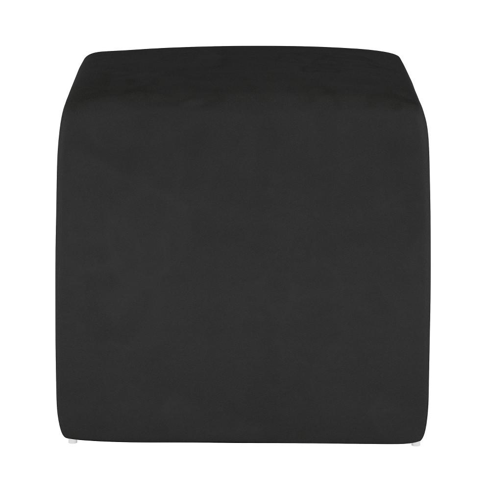 Image of Kids Cube Ottoman Premier Black - Pillowfort