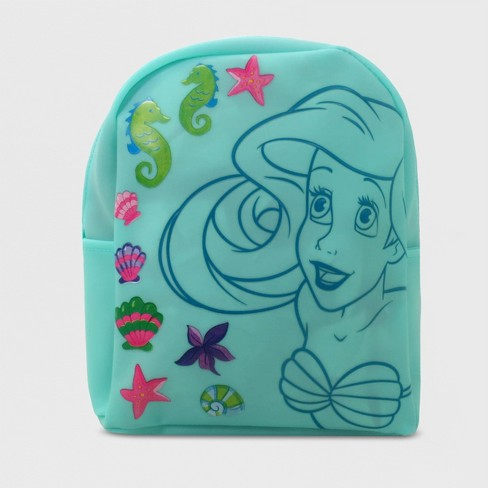 Girls' Disney Princess Ariel Jelly Rubber Backpack - Turquoise - image 1 of 4