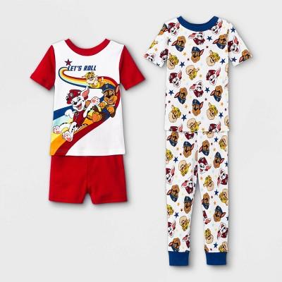 Toddler Boys' 4pc PAW Patrol Snug Fit Pajama Set - White