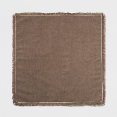 4pk Solid Napkin Brown - Threshold™