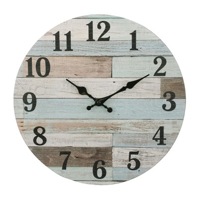 Coastal Worn Wall Clock 14 x 14 - Stonebriar Collection